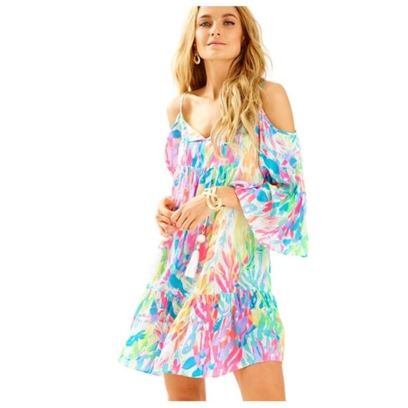 41626fb82890e Lilly Pulitzer Alanna Off the Shoulder Dress M NWT